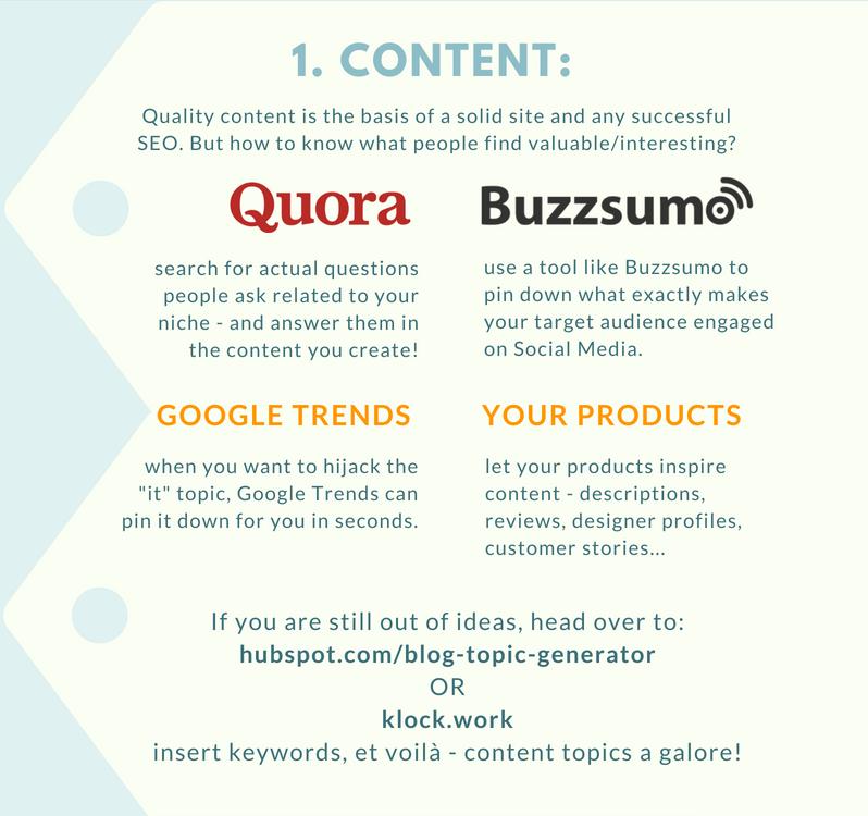 content tools