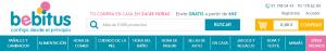 Bebitus.es online shop header