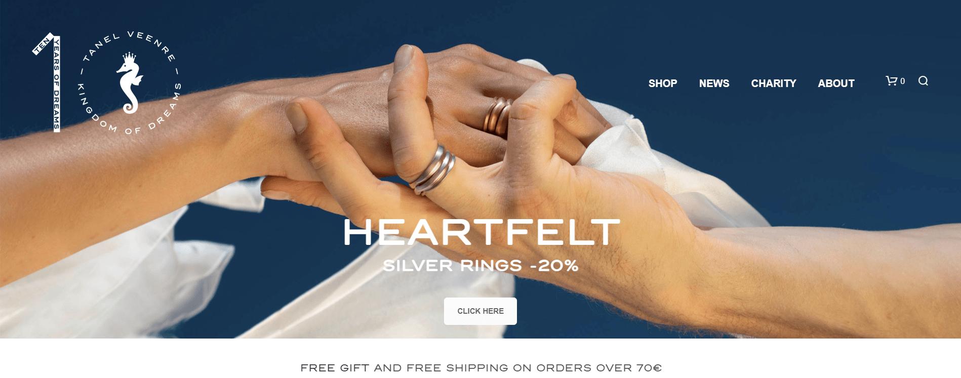 Marketing para San Valentín con anillos Heartfelt.