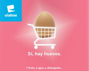 Eslogan de una tienda online española de huevos y alimentación referente a los envíos nacionales.