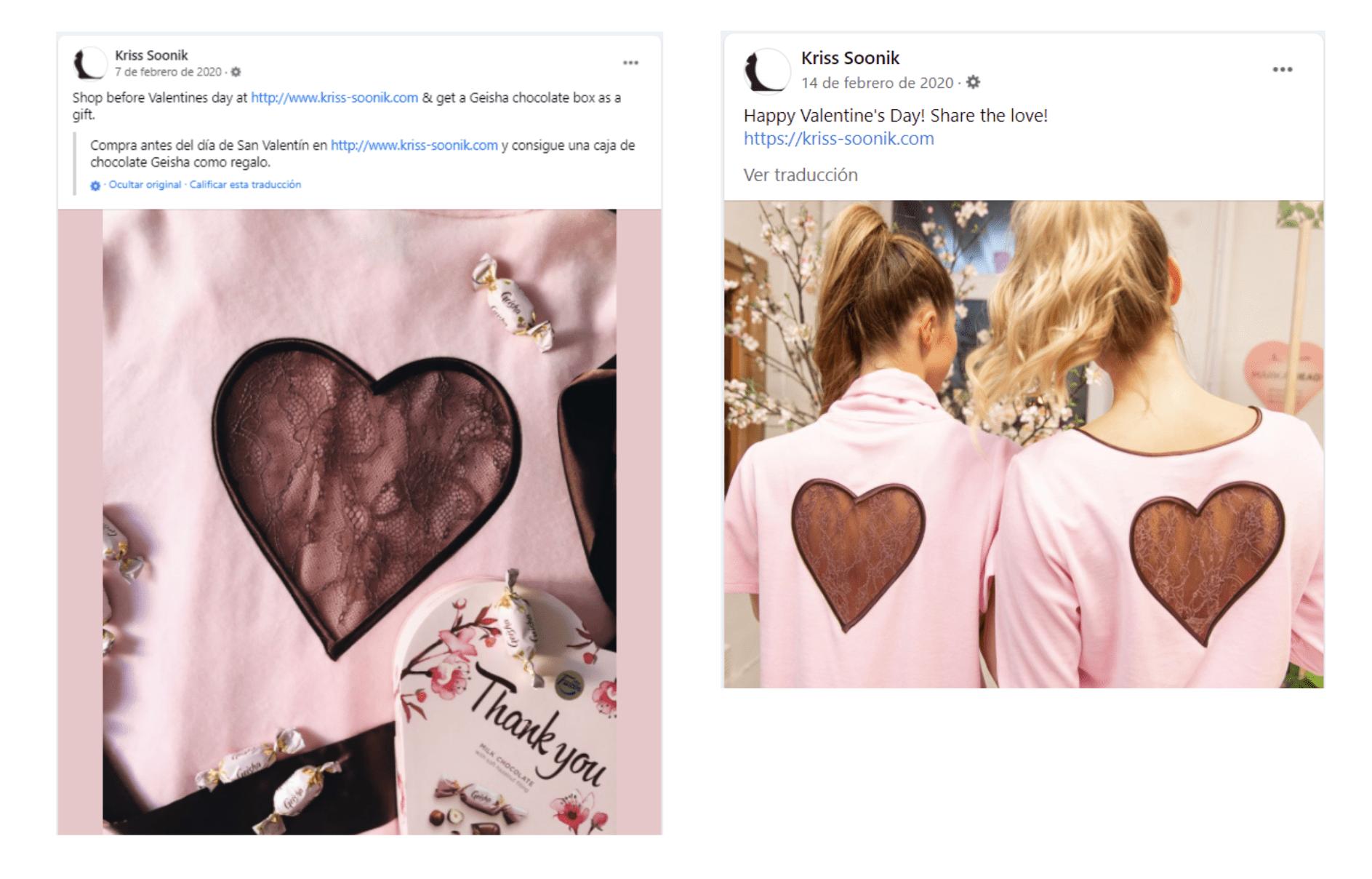 Campaña de marketing para el día de San Valentín de Kriss Soonic.