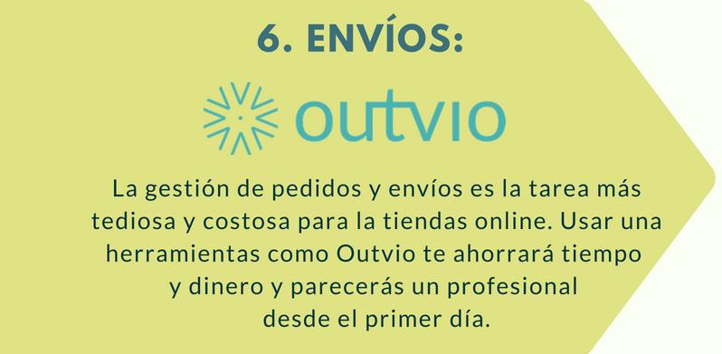 Outvio es una herramienta de envíos perfecta con la que lanzar tu tienda online.