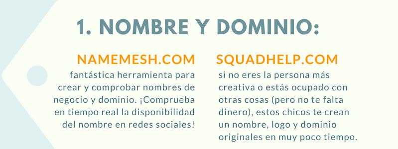 El nombre y el dominio es lo primero es uno de los primeros pasos de lanzar una tienda online.