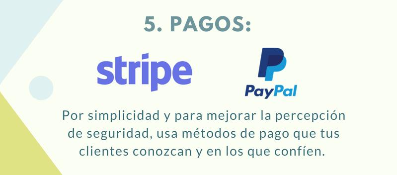 Métodos de pago perfectos para lanzar una tienda online.