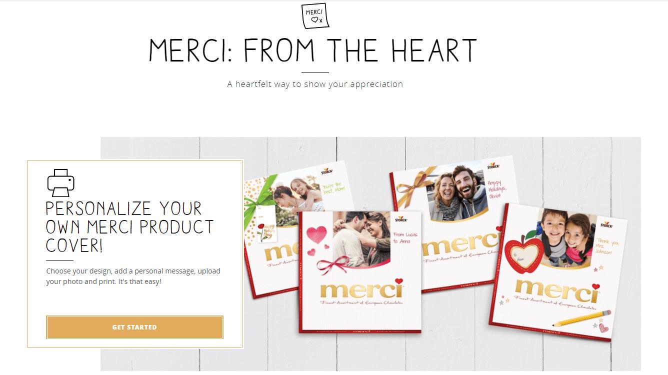Campaña de marketing en San Valentín con forma de tableta de chocolate de la firma Merci.