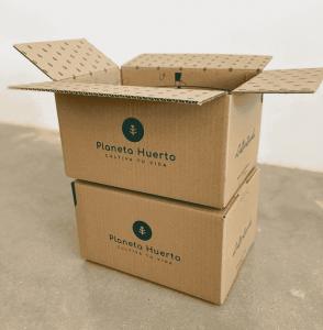 cajas de planeta huerto ejemplo de packaging personalizado delivery packaging boxes online shop