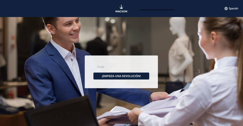 Portal de devoluciones de la tienda online Macson con Outvio.